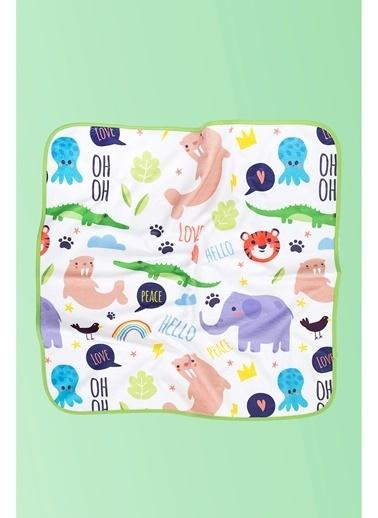Hamur Bebek Kundak Plaj Havlusu Love Animals 75x75 cm Renkli